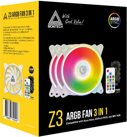 120mm Montech Z3 ARGB 3 Fan Kit