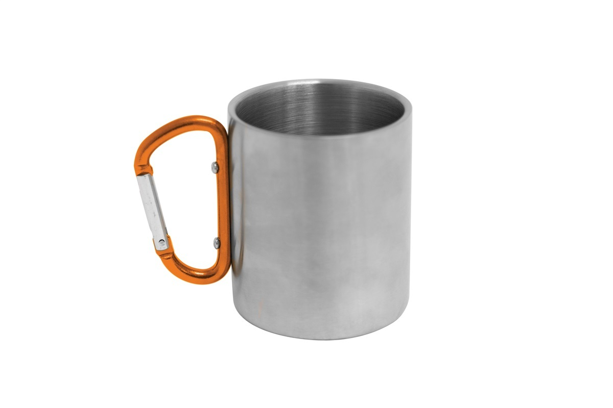 Kiwi Camping Stainless Steel Mug with Carabiner Handle | 300ml image