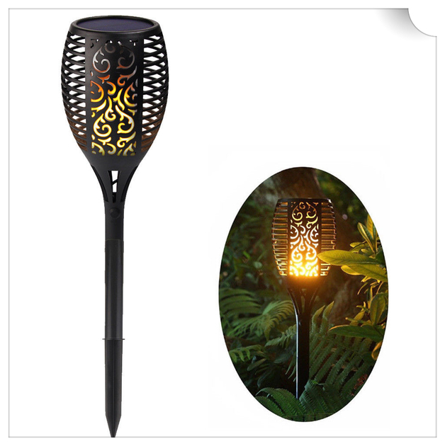 Solar Garden Stake LED Torch Light with Decorative Flickering Flame