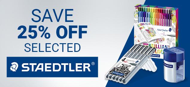 25% off selected Staedtler!