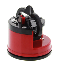 Knife Sharpener With Suction Base - Red