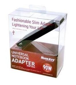Huntkey: Ultra Slim 90W - Universal Notebook Power Adapter with USB power port (adjustable 15 -20V)