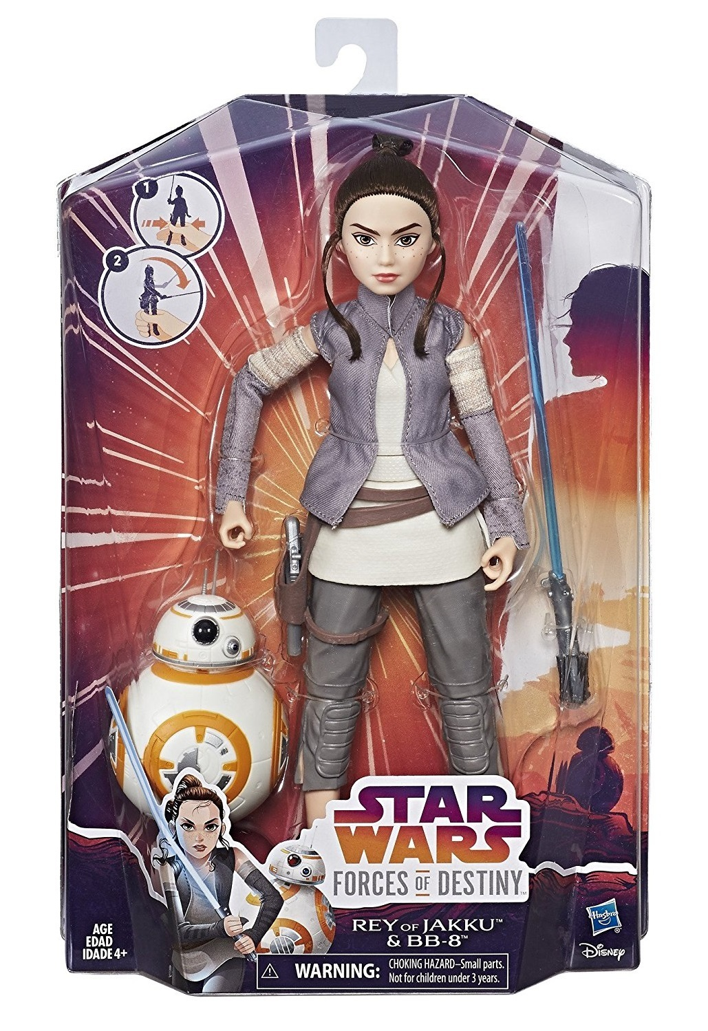 Star Wars: Forces of Destiny Adventure Doll - Rey & BB-8 image