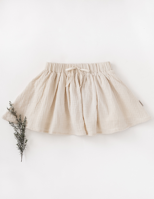 Karibou Kids: Dance and Play Cotton Skirt - Almond Milk 4YRS