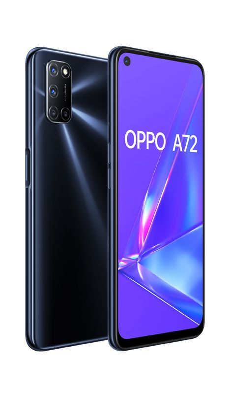 OPPO A72 Dual SIM (128GB/4GB RAM) - Twilight Black
