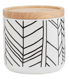 General Eclectic Med Canister Feather - White