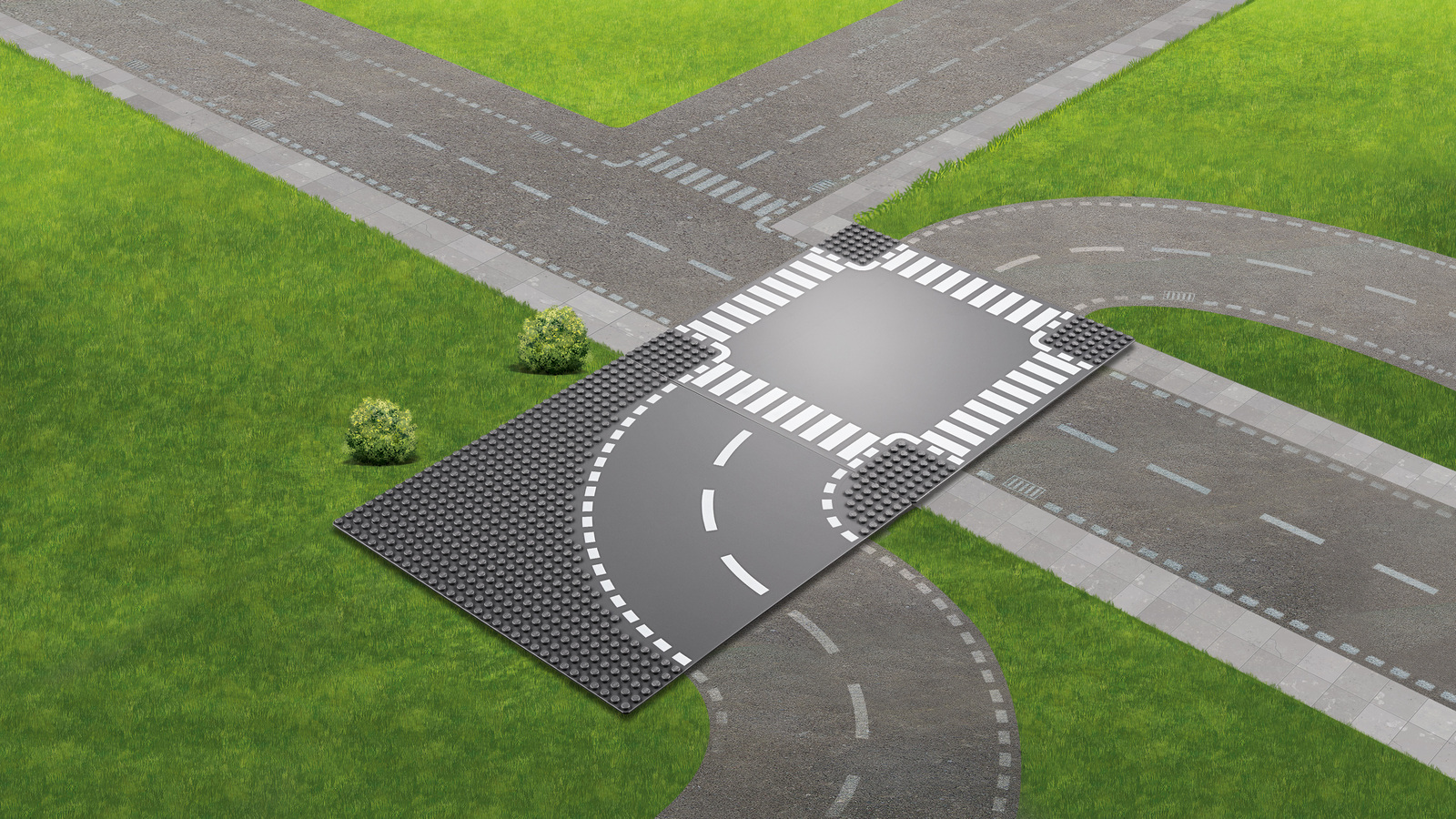 LEGO City - Curve & Crossroad (60237) image