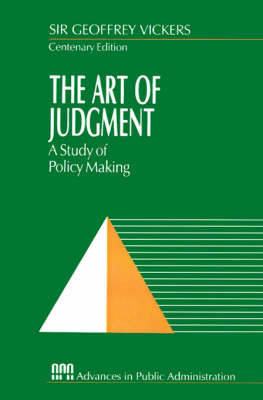 The Art of Judgment by Geoffrey Vickers image