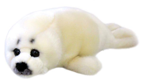 Silky Soft White Seal 20cm Plush