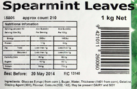 Spearmint Leaves 1kg - Rainbow Confectionery image