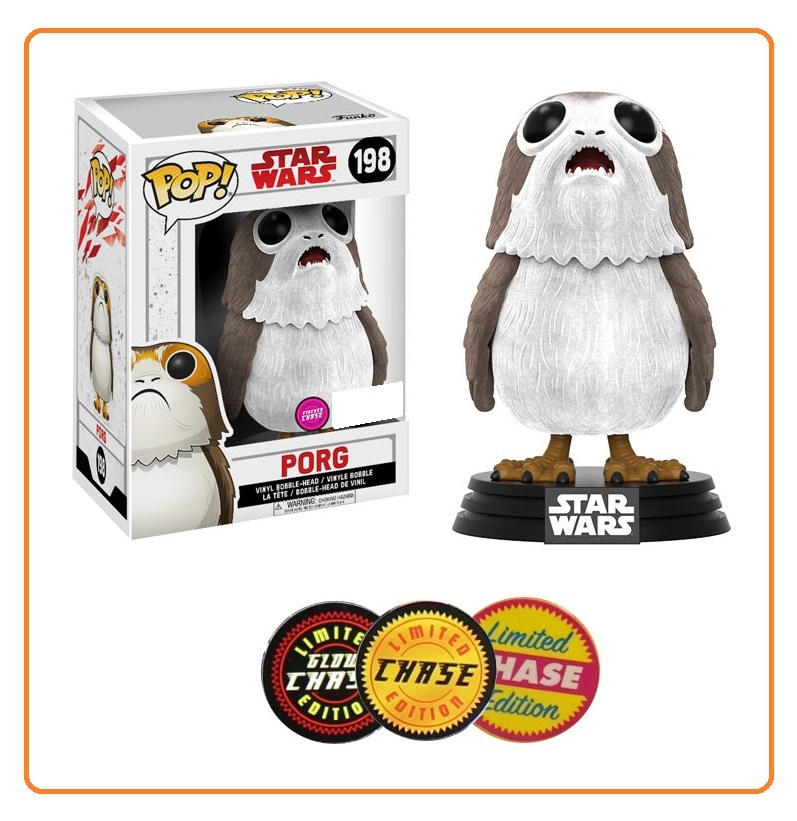 Star Wars: The Last Jedi - Porg (Flocked) Pop! Vinyl Figure (with a chance for a Chase version!) image