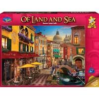 Holdson: 1000 Piece Puzzle - Of Land & Sea (Venice Canal Café)
