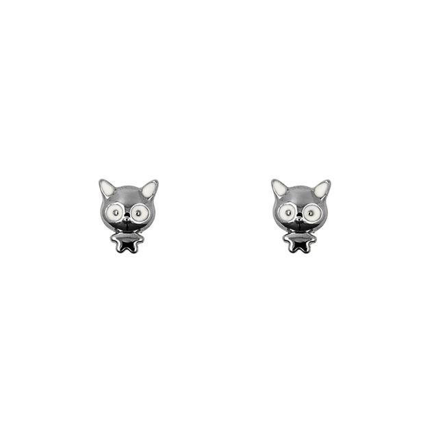 Short Story: Earring Monster Cat Black