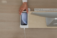 Pout EYES 6 Fast Wireless Charging Wooden Monitor Stand White