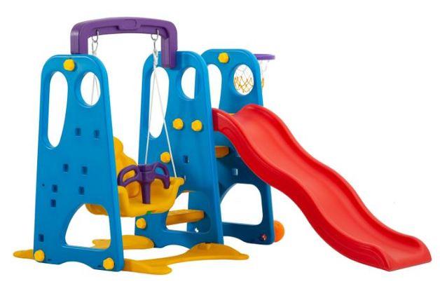 3-in-1 Swing & Slide Playground - Happy Set