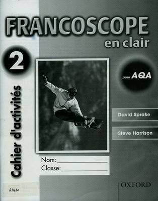 Francoscope en Clair pour AQA: Workbook 2 by David Sprake
