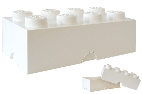 LEGO: Storage Brick 8 - White