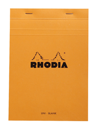 Bloc Rhodia A5 80 Blank Sheets (Orange)