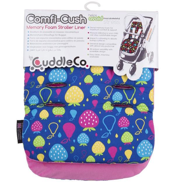 Cuddle Co: Comfi-Cush Memory Foam Stroller Liner - Tutti Frutti