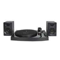 mBeat Pro-M Black Bluetooth Turntable with Speakers