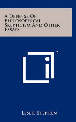 essay philosophical skepticism Essays in skepticism - ebook (9781497675681) by bertrand russell.
