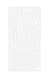 Kaisercraft: Number Stickers - White