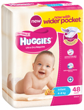 Huggies Nappies Bulk - Infant Girl 4-8kg (48)