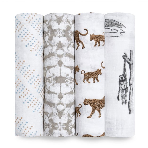 Aden + Anais: Hear Me Roar Classic Swaddles (4 Pack)