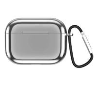 Airpods Pro TPU Shockproof Protective Cover - Silver