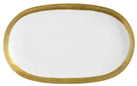 Maxwell & Williams Swank Platter Oblong 41x25cm (White/Gold)
