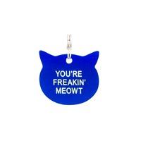 Cat Tag: Freakin' Meowt (Blue)