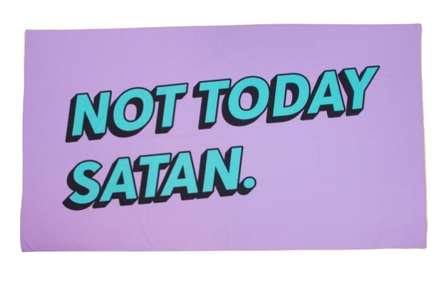 Firebox: Novelty Towel - Not Today Satan