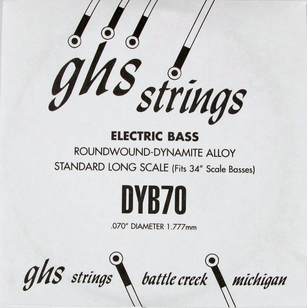 GHS 070 Dynamite Alloy Bass Boomers - Electric Bass Single String