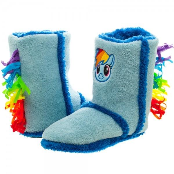 1bcec5da1011 My Little Pony Rainbow Dash Boot Slippers (Large)