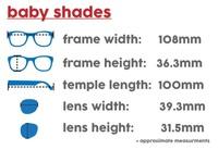 Ro.Sham.Bo: Baby Shades - Black Bueller (Dark Blue Mirror Lens) image
