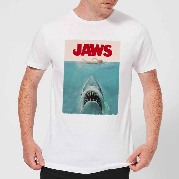 Jaws: Classic Poster T-Shirt - White/XX-Large