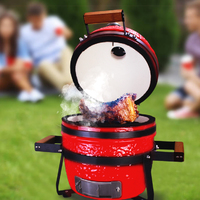 "Gorilla Kamado Ceramic Portable Grill BBQ (Red)   13"" image"