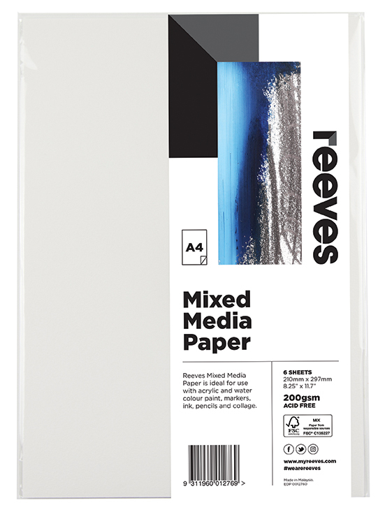 Reeves: Mixed Media Paper Pack - A4 (200GSM,Pack of 6)