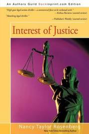 Interest of Justice by Nancy Taylor Rosenberg image