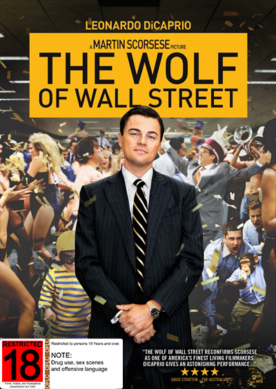 The Wolf of Wall Street on DVD image