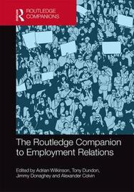 The Routledge Companion to Employment Relations