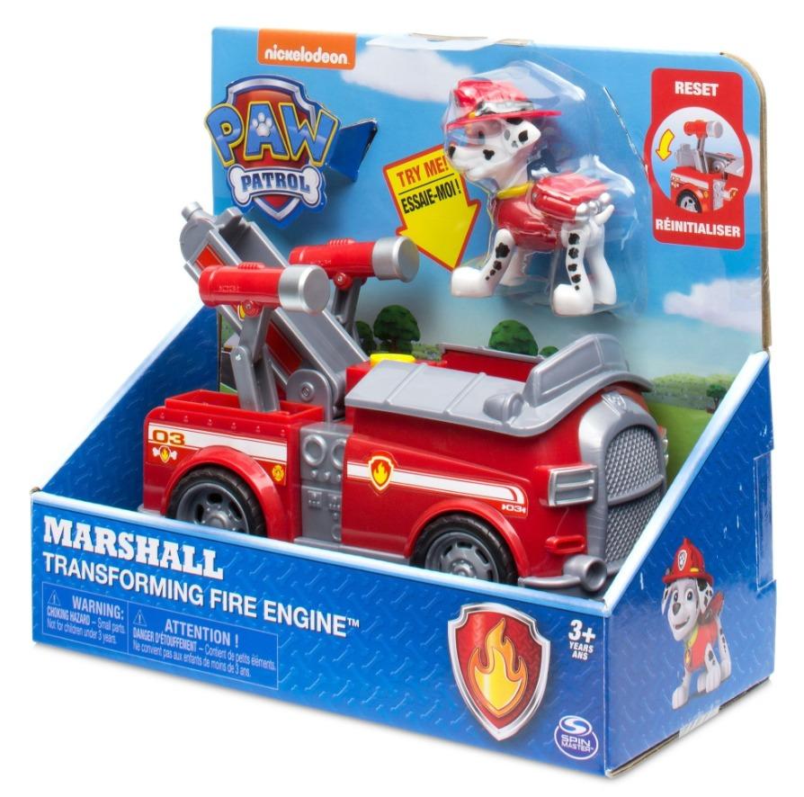 Paw Patrol: Basic Vehicle & Pup - Marshall's Transforming Fire Engine image