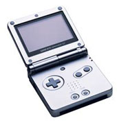 Game Boy Advance SP - Platinum Silver for GBA