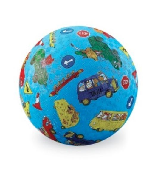 """Crocodile Creek: 5"""" Playground Ball - Cars, Trucks and Things that Go - Richard Scarry"""