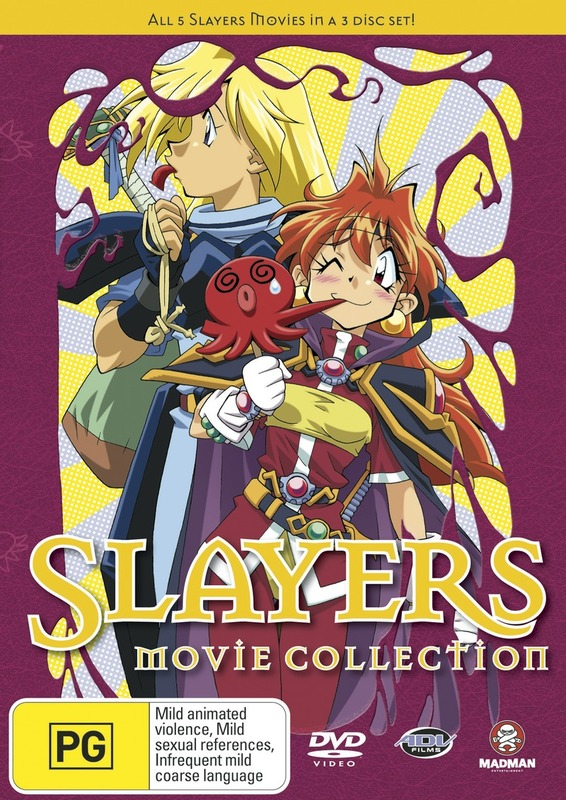 Slayers Movie Collection (3 Disc Set) on DVD