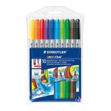 Staedtler Noris Club Fibre-Duo Tip Pens Assorted Pkt10