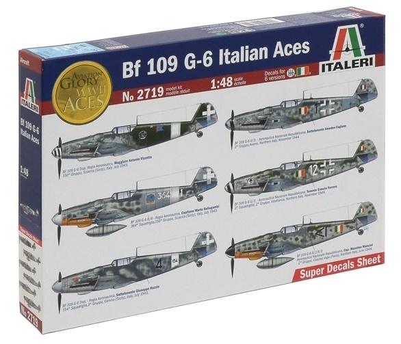 Italeri: 1/48 BF109 G-6 Italian Aces - Model Kit