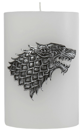 Game Of Thrones: Sculpted Insignia Candle - House Stark