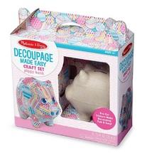 Melissa & Doug: Piggy Bank - Decoupage Craft Set