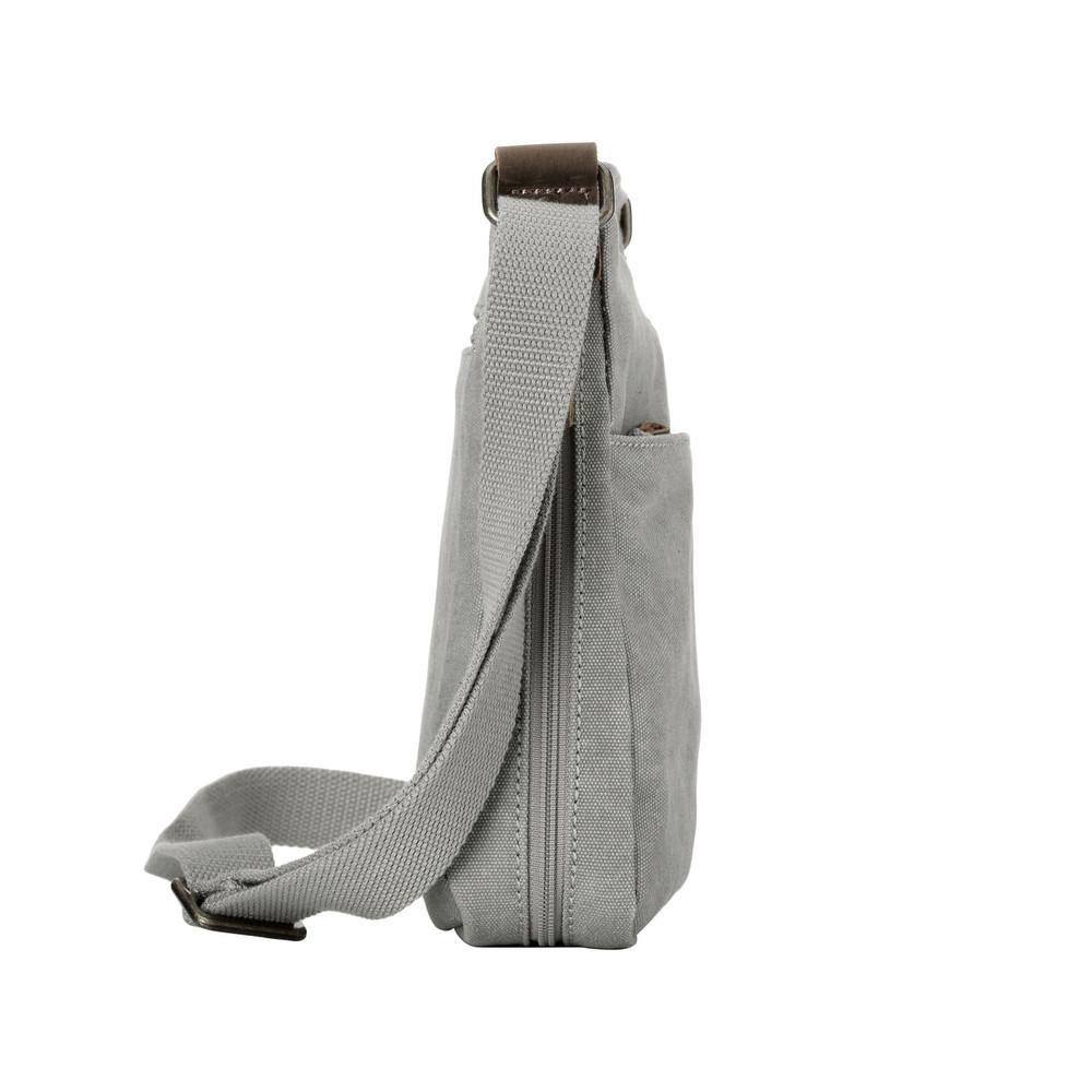 Troop London: Classic Small Zip Top Shoulder Bag - Ash Grey image